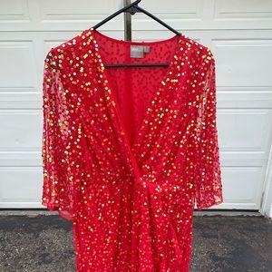 ASOS Sparkle sequin red dress